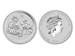 2016澳洲生肖猴年銀幣1盎司(系列II)