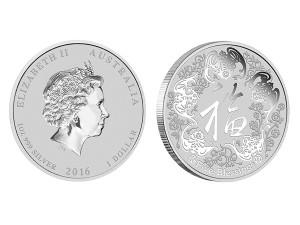 2016澳洲五福臨門銀幣1盎司