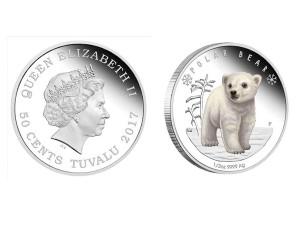 2017澳洲極地寶寶系列 - 北極熊銀幣1/2盎司