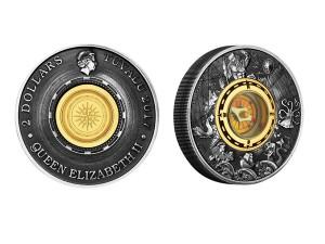 2017澳洲指南針仿古銀幣2盎司