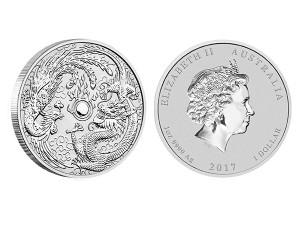 2017 澳洲龍鳳銀幣1盎司