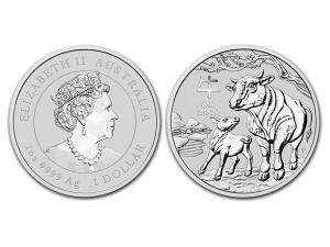 2021澳洲生肖牛銀幣1盎司(系列III)
