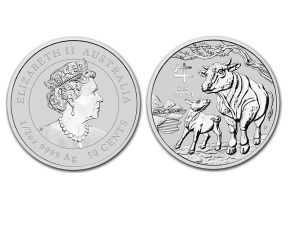 2021澳洲生肖牛銀幣0.5盎司(系列III)