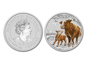 2021澳洲生肖牛銀幣1盎司(系列III-彩色版)