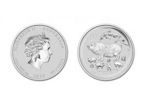 2019澳洲生肖豬銀幣0.5盎司(系列II)