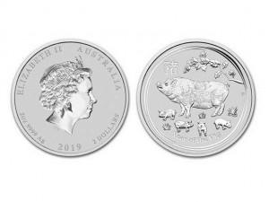 2019澳洲生肖豬銀幣2盎司(系列II)