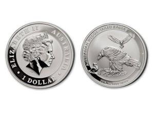 2018澳洲楔尾鷹銀幣1盎司