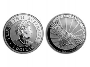 2019澳洲楔尾鷹銀幣1盎司