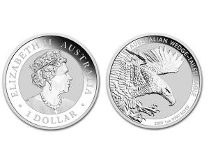 2020澳洲楔尾鷹銀幣1盎司