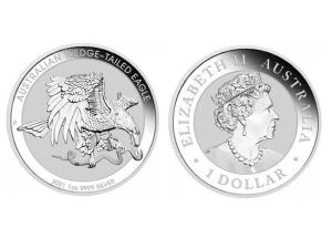 2021澳洲楔尾鷹銀幣1盎司