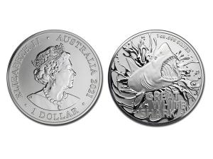 2021澳洲大白鯊銀幣1盎司