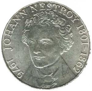 1976奧地利內斯特羅伊一百七十五周年誕辰珍藏幣