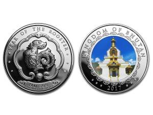 2017不丹-生肖雞精鑄銀幣1盎司