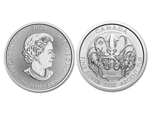 2020加拿大北海神秘生物系列-海妖銀幣2盎司