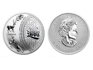 2016加拿大五福臨門銀幣1盎司