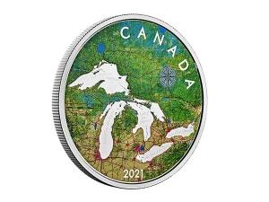 2021加拿大五大湖銀幣5盎司