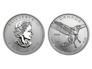 2015加拿大紅尾鷹銀幣1盎司