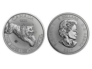 2017加拿大掠食者系列-山貓銀幣1盎司