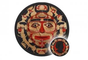 2017加拿大楓葉銀幣1盎司鍍釕海達族彩繪版