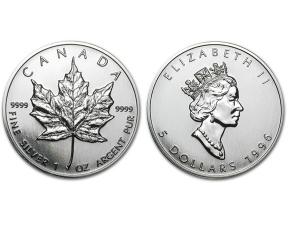 1996加拿大楓葉銀幣1盎司