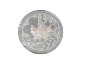 2017加拿大楓葉銀幣1盎司鍍釕彩繪骷髏版