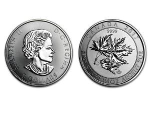 2017加拿大楓葉銀幣1.5盎司特厚版