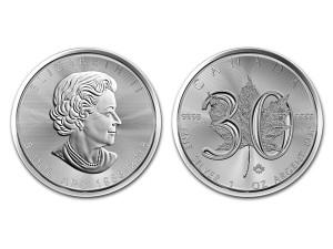 2018加拿大楓葉30週年紀念銀幣1盎司