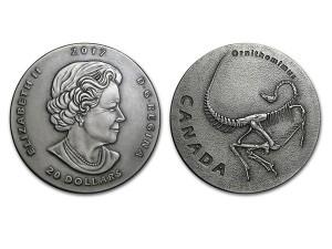 2017加拿大考古銀幣1盎司-似鳥龍(仿古處理)