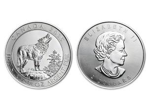 2015加拿大灰狼銀幣0.75盎司
