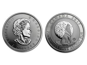 2017加拿大灰狼銀幣0.75盎司