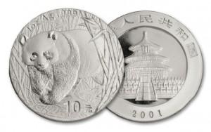 2001中國熊貓銀幣1盎司