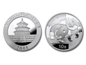 2008中國熊貓銀幣1盎司