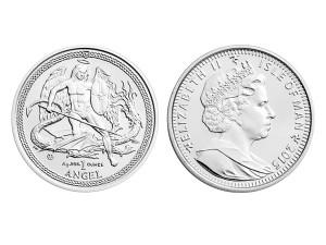 2015英屬曼島天使銀幣1盎司