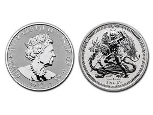 2017英屬曼島天使銀幣1盎司