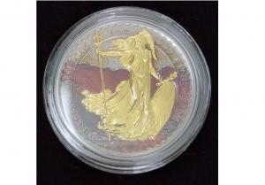 2015英國大不列顛熔岩鍍金版銀幣1盎司