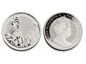 2017福克蘭群島-不列顛女神銀幣1盎司