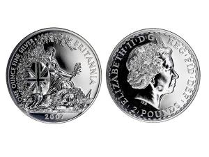 2007大不列顛銀幣1盎司