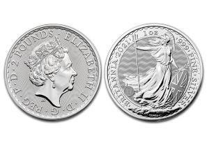 2021大不列顛銀幣1盎司