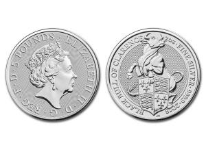 2018英國克拉倫斯黑牛銀幣2盎司