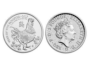 2017英國生肖雞年銀幣1盎司