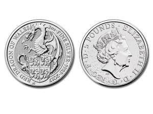2017英國威爾斯紅龍銀幣2盎司