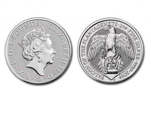 2019英國金雀花獵鷹銀幣2盎司