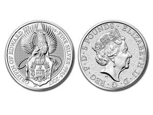 2017英國格里芬獅鷲銀幣2盎司