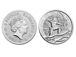 2021英國傳說系列羅賓漢銀幣1盎司