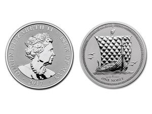 2017英屬曼島貴族銀幣1盎司