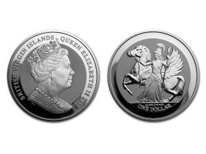 2017英屬曼島飛馬銀幣1盎司