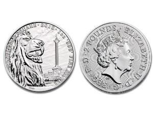 2018英國地標特拉法加廣場銀幣1盎司