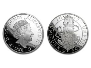 2017英國蘇格蘭獨角獸銀幣1盎司精鑄版