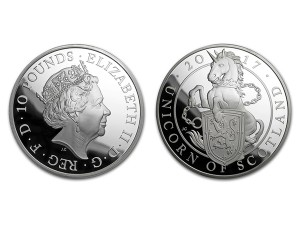 2017英國蘇格蘭獨角獸銀幣5盎司精鑄版