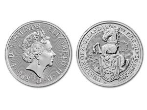 2018英國蘇格蘭獨角獸銀幣2盎司